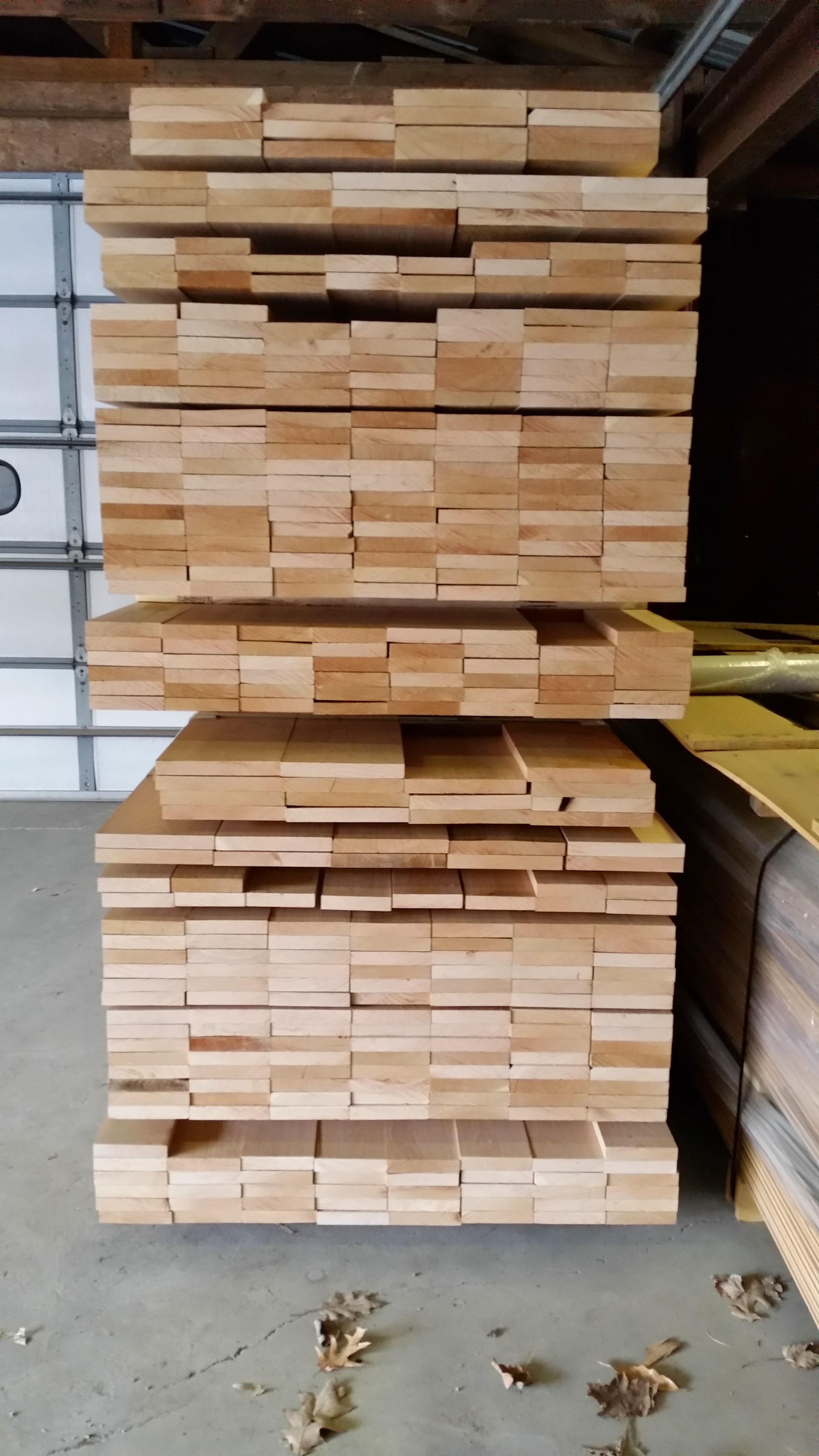 Red Oak Clear flooring blanks